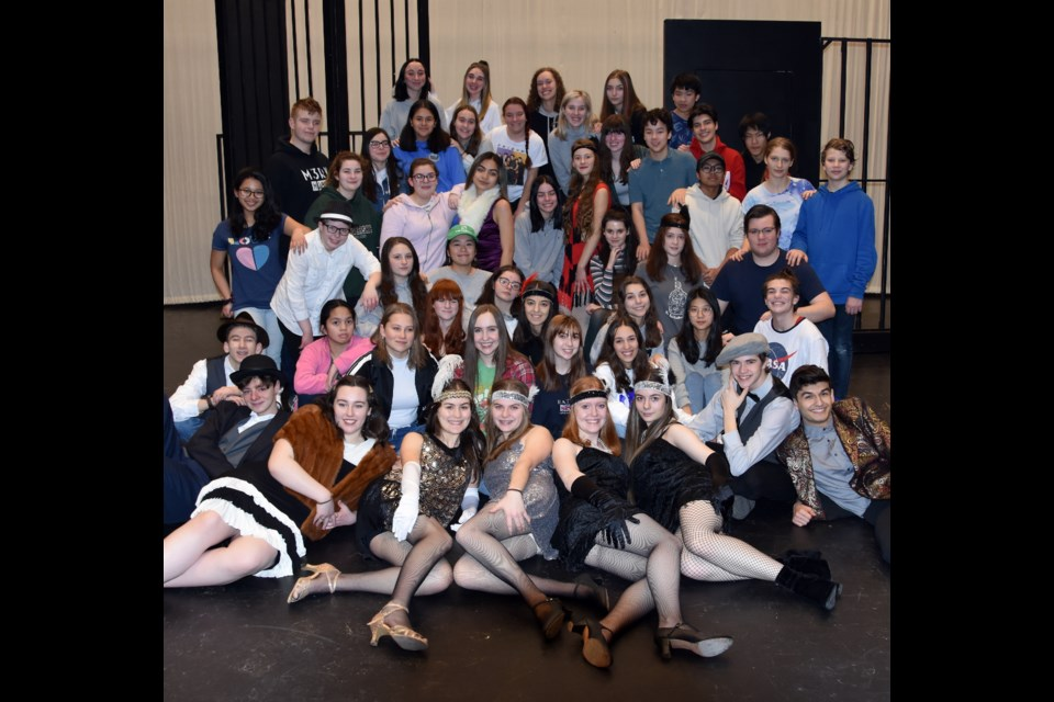 River's Edge Theatre has 57 students cast in Chicago, at Riverside secondary in Port Coquitlam.