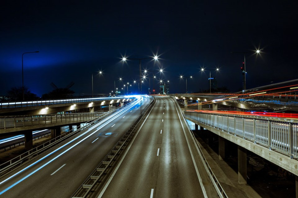 road night street lighting