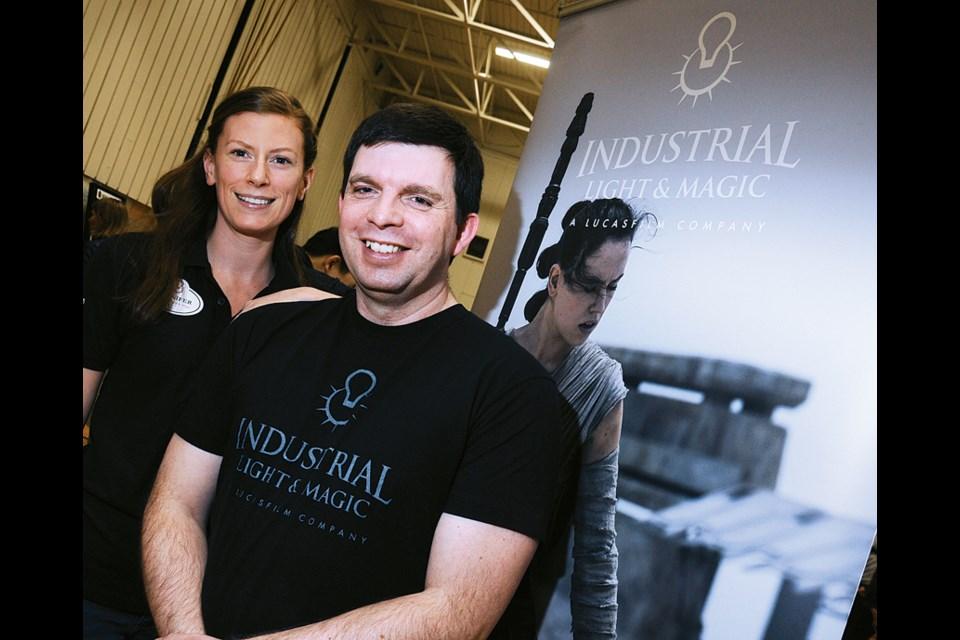 Industrial Light & Magic recruitment co-ordinator Jennifer Musgrave with VFX technical trainer Matt Leonard.