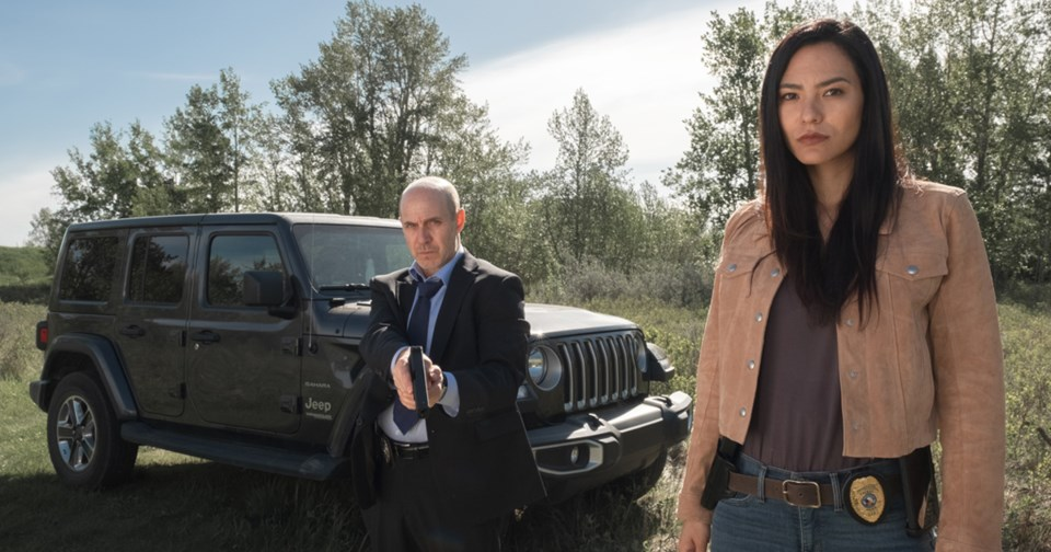 Brian Markinson plays an unlikely police partner to Jessica Matten in the APTN series Tribal.