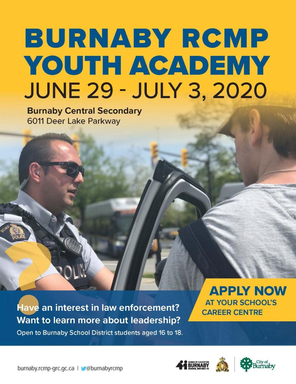 Burnaby RCMP youth academy