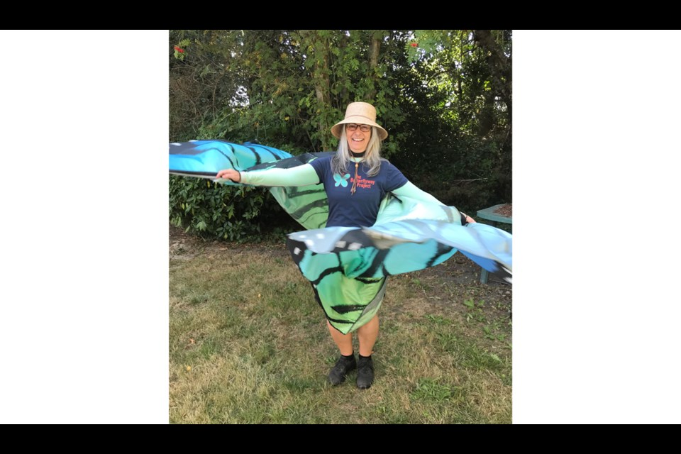 The Sharing Farm's Garlic Festival saw ranger Lynn doing the butterfly dance. Photo submitted