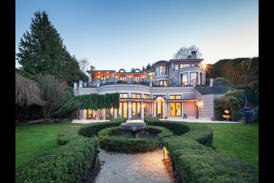Listed at $58 million, the Point Grey property at 4743 Belmont Avenue is currently the most expensive luxury home in Vancouver listed on REW Canada. Photo REW/Sotheby's International Realty Canada