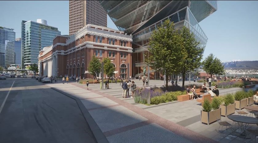 The redesign of the tower proposed for 555 West Cordova.
