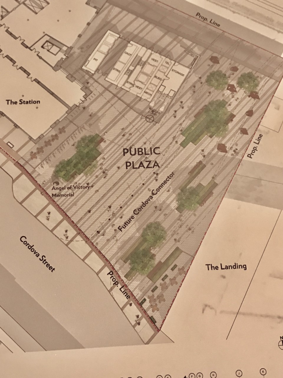 The plan for the project identifies space for a future Cordova Connector.