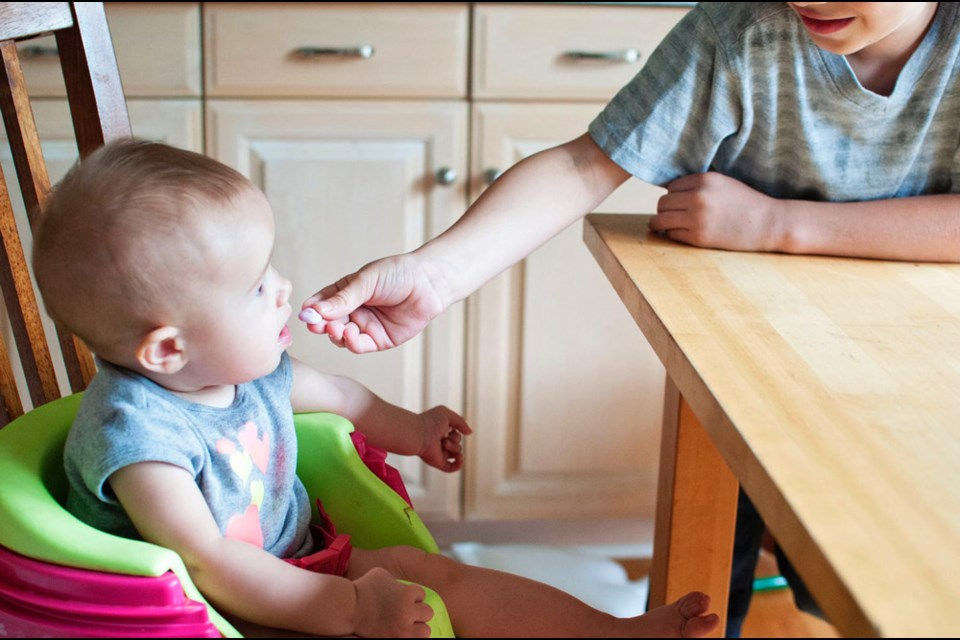 Feeding the baby a variety of flavours and textures as well as foods that easily melt in the mouth help them become more adventurous.