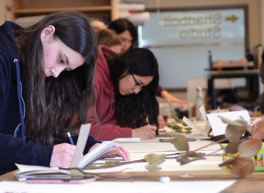Student artwork produced from Artists for Kids' recent botanical drawing workshop is set to be displayed at Gordon Smith Gallery at 2121 Lonsdale Ave. from March 2 to 5.