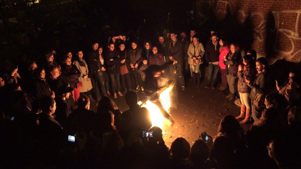 Chaharshanbe Suri, or the Festival of Fire, includes jumping over bonfires as a way of taking away n