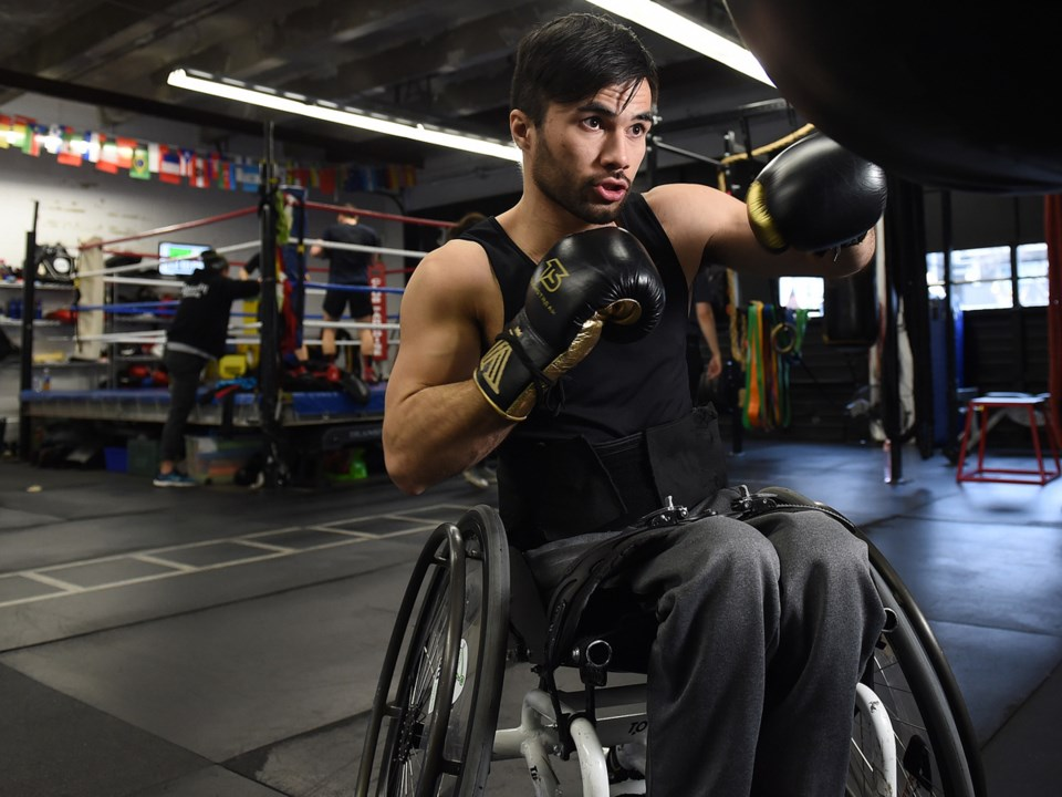 Boxer Leo Sammarelli was paralyzed after a 2017 shooting. The former national lightweight champion w