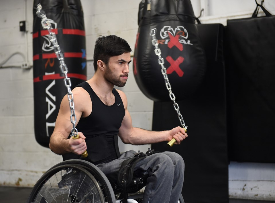 Last year, Leo Sammarelli launched the non-profit West Coast Wheelchair Adaptive Boxing Society to p