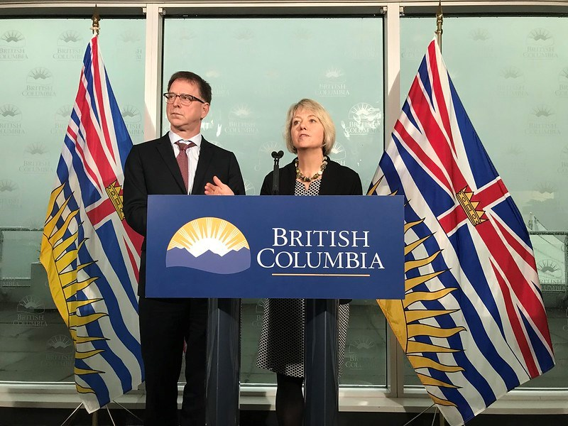 Health Minister Adrian Dix and provincial health officer Dr. Bonnie Henry