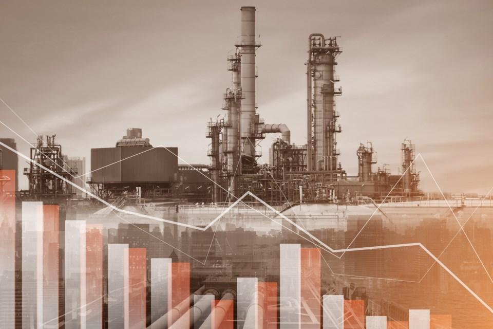 Oil prices down graph