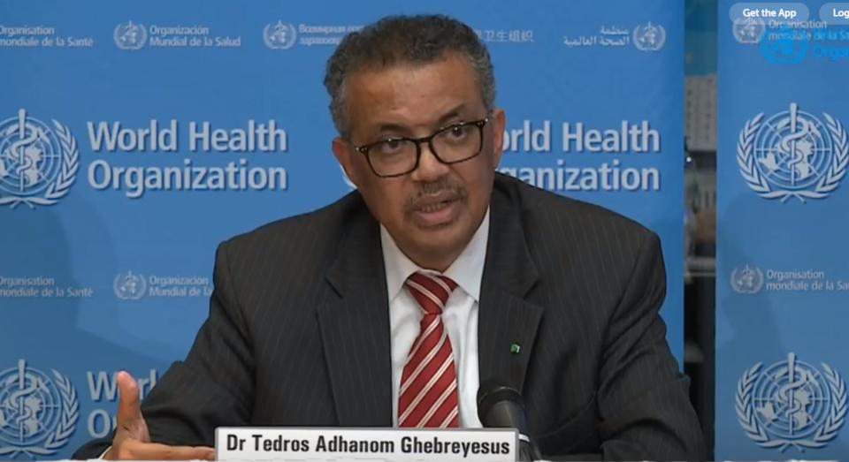 Tedros Adhanom Ghebreyesus, director-general of WHO