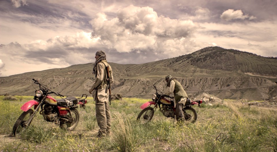 As for the Afghanistan scenes, the B.C. interior proved to be a worthy stand-in. Photo Howard J. Dav