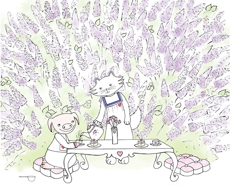 An illustration from the Sweetheart Bakery Press.