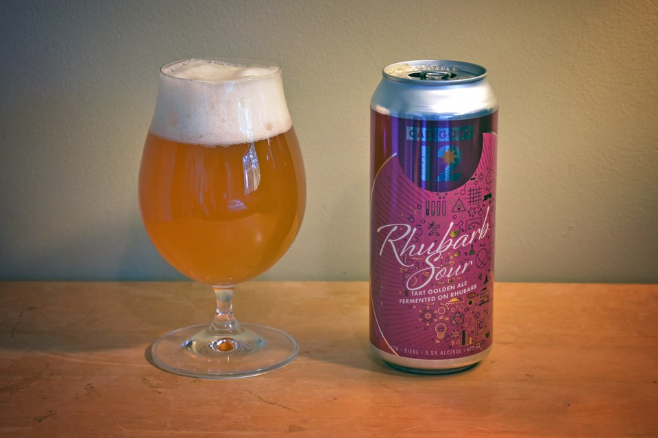 Category 12 Brewing Rhubarb Sour is delightfully tart and refreshing, with notes of gooseberry, ston