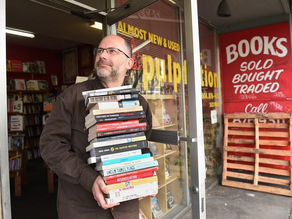 Chris Brayshaw, owner of Pulpfiction Books