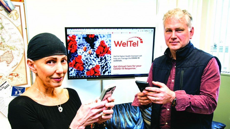 WelTel CEO Gabby Serafini (left) and Richard Lester, the company's chief science officer. WelTel's m