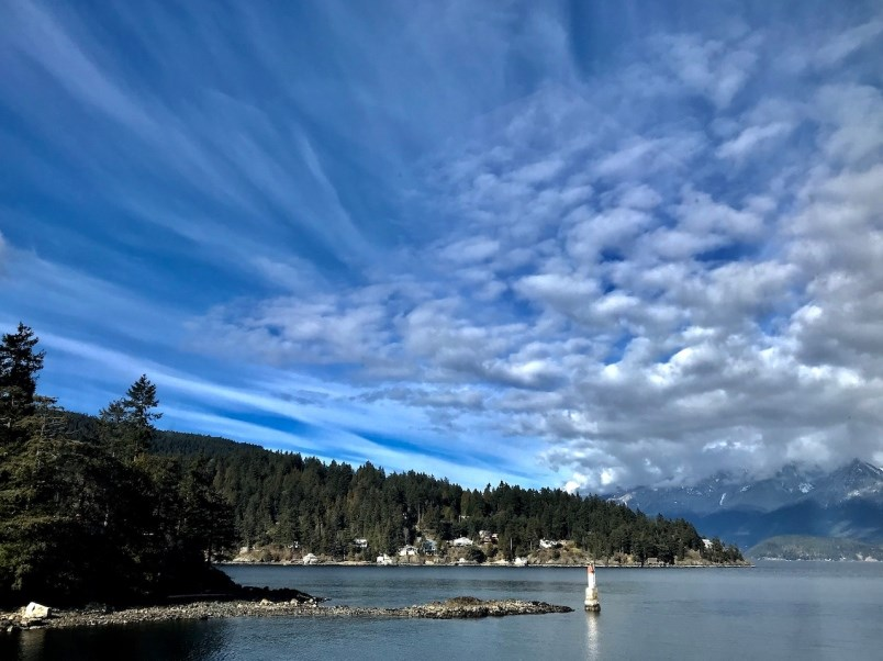 shot of lighthouse with big sky