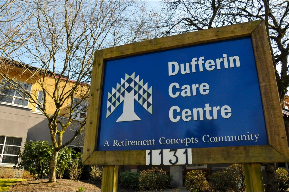 A staff person at Coquitlam's Dufferin Care Centre is in self-isolation at home after being diagnosed with COVID-19.