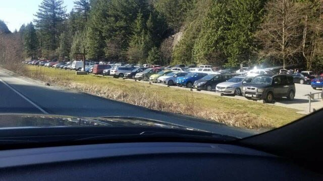 Murrin parking lot Saturday afternoon.
