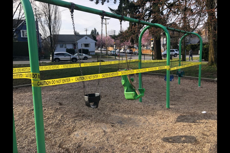City playgrounds across Vancouver are now closed. Photo Jessica Kerr