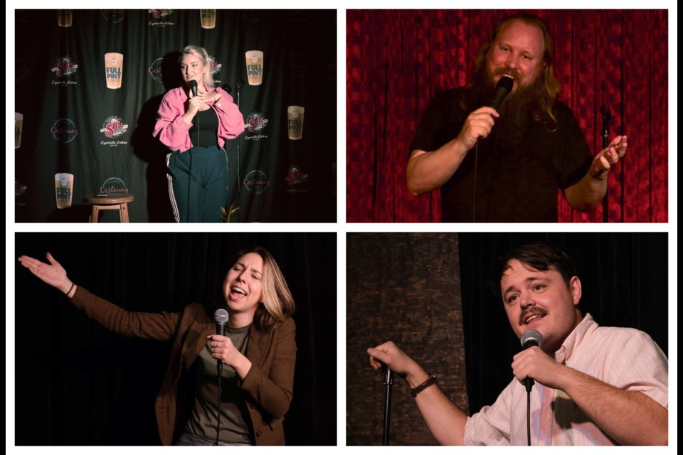 Vancouver comics (clockwise from top left) Sophie Buddle, Graham Clark, Aaron Read and Rae Lynn Carson are trying to find humour in these harrowing times.