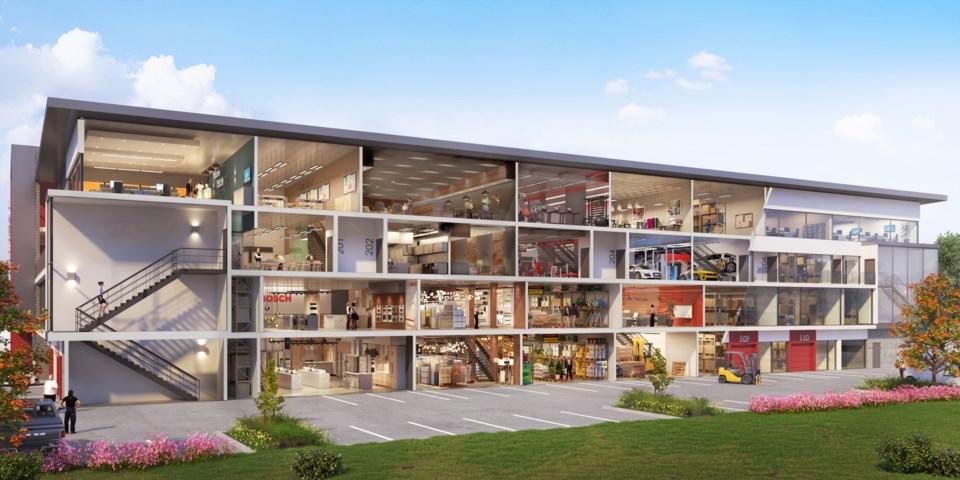 Richmond Industrial multi-storey Alliance Cross Section