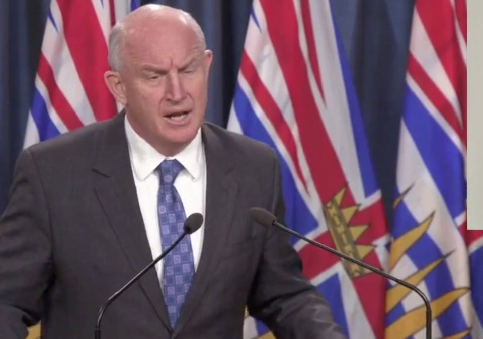 Minister of Public Safety and the Solicitor General Mike Farnworth announces the new measures alongs