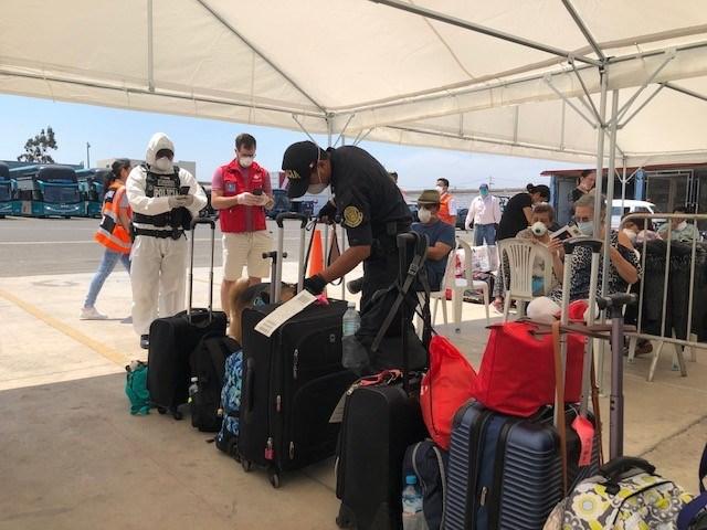 Baggage check Peru emergency flight