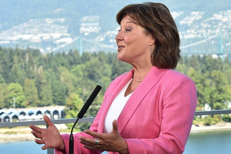 Christy Clark back in the glory days.