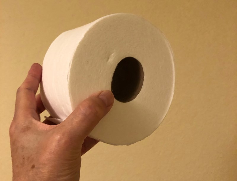 """A """"mega"""" size roll of toilet paper."""
