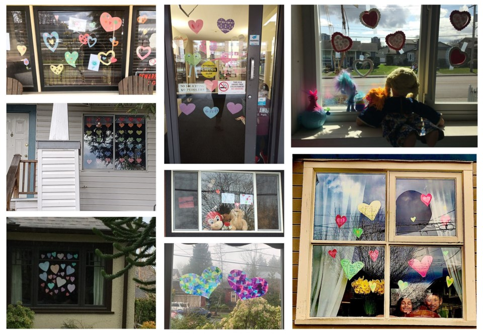 hearts, windows, New westminster, The Great Teddy Bear Hunt