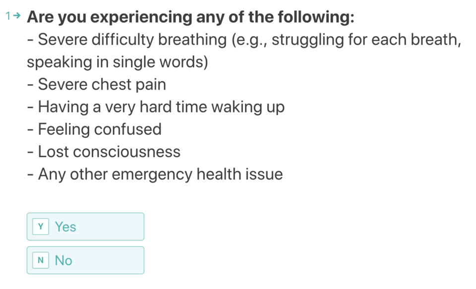 The COVID-19 self-assessment tool asks a series of questions, virtually links you up with doctor