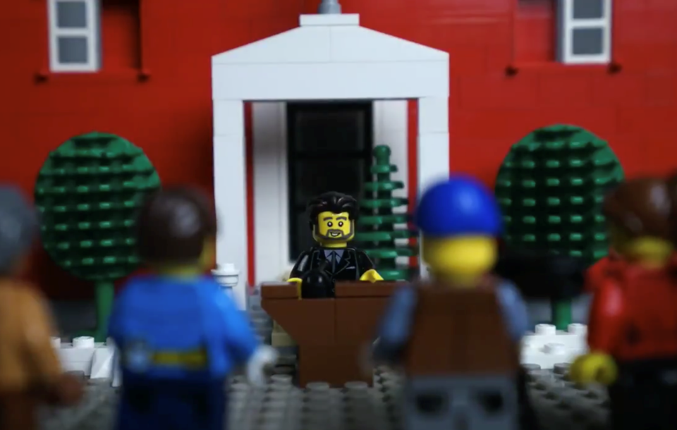 Lego Trudeau addresses Lego media in message to Canada's kids