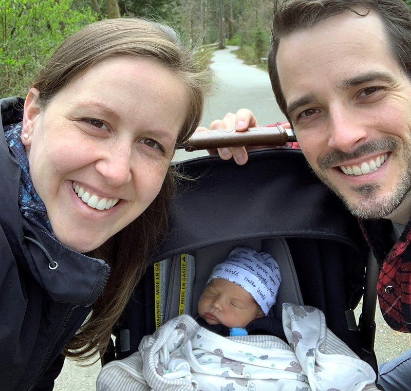 Andy and Lindsay Huerlimann are the proud parents of Henry,