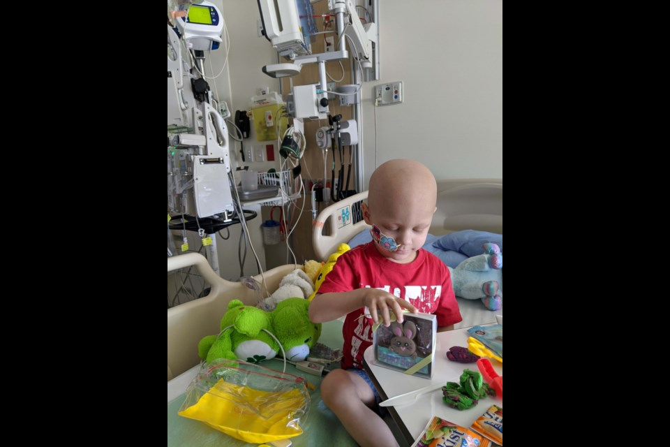 Shane Dagan's gesture was made all the more worthwhile when he quickly received thankyou emails from young Aiden Struck, one of the patients at B.C. Children's. Photo submitted