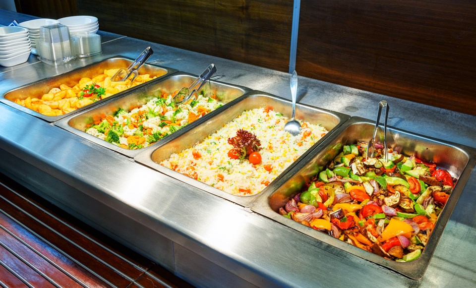 cafeteria meal, food