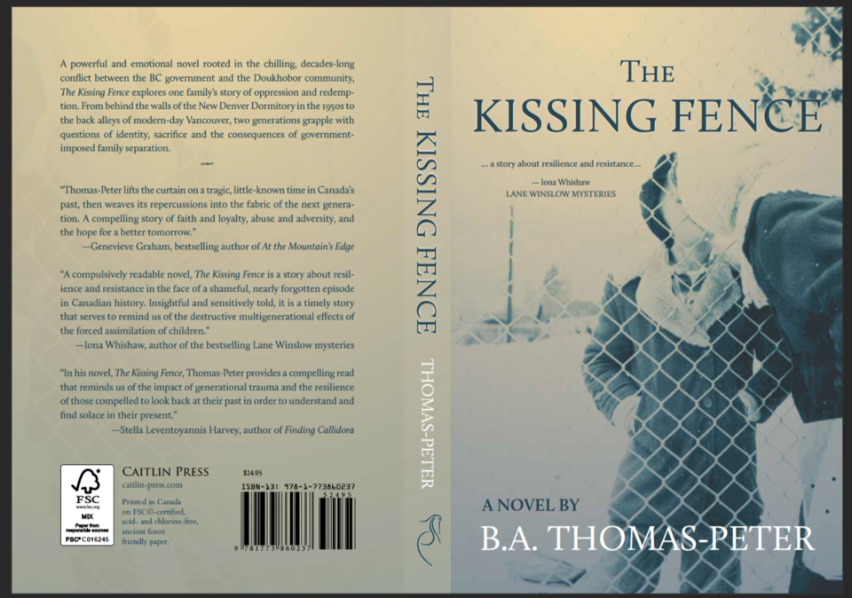 Cover of . the Kissing Fence with a mother and child kissing through fence