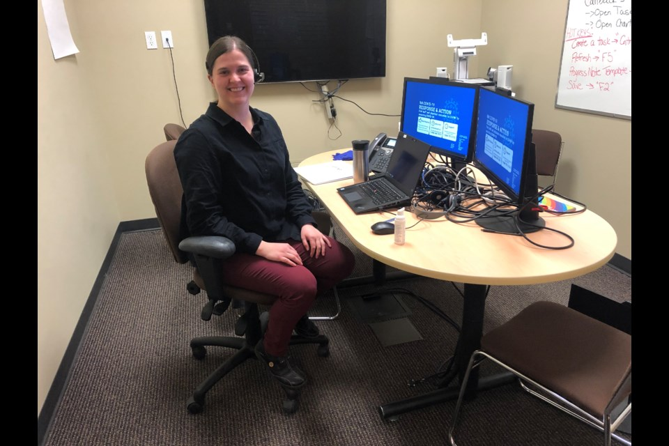 Dr. Shannon Brown has been seeing patients referred to her through Northern Health's COVID-19 online clinic and information line. The Prince George call centre, which connects patient to health-care professionals, has been in operation since March 14.