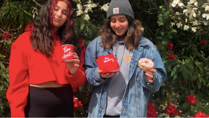 Roxanna and Sonya Ferdowsi are raising funds to buy donuts and coffee