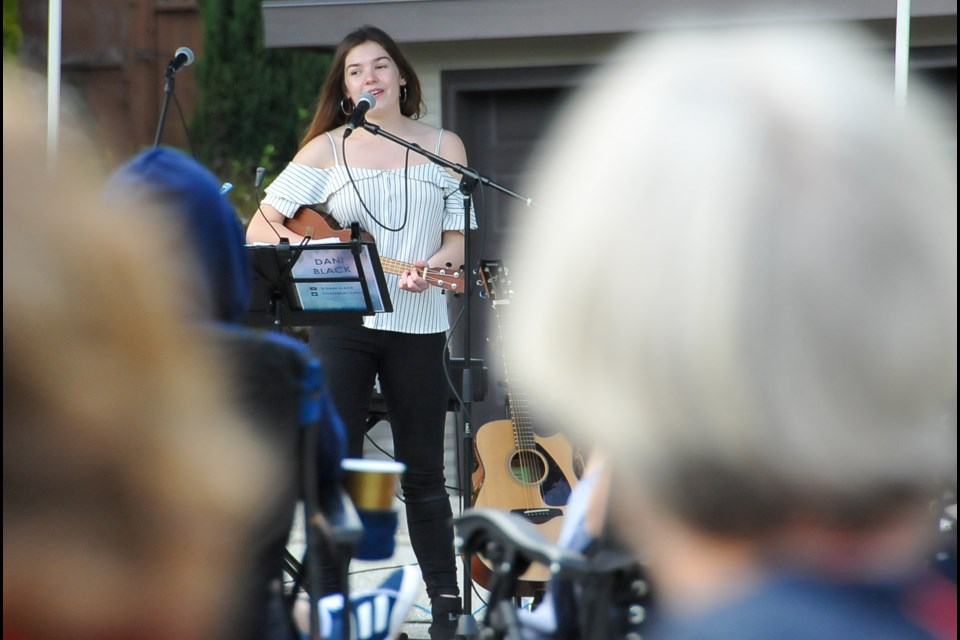 Dani Black, who placed second in the recent Youth Talent Search BC competition, raised over $17,000 that will be divided between the Greater Vancouver food bank and the Tri-Cities' SHARE Family and Community Services food bank