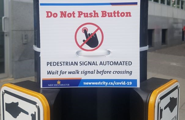 new westminster beg button covid-19