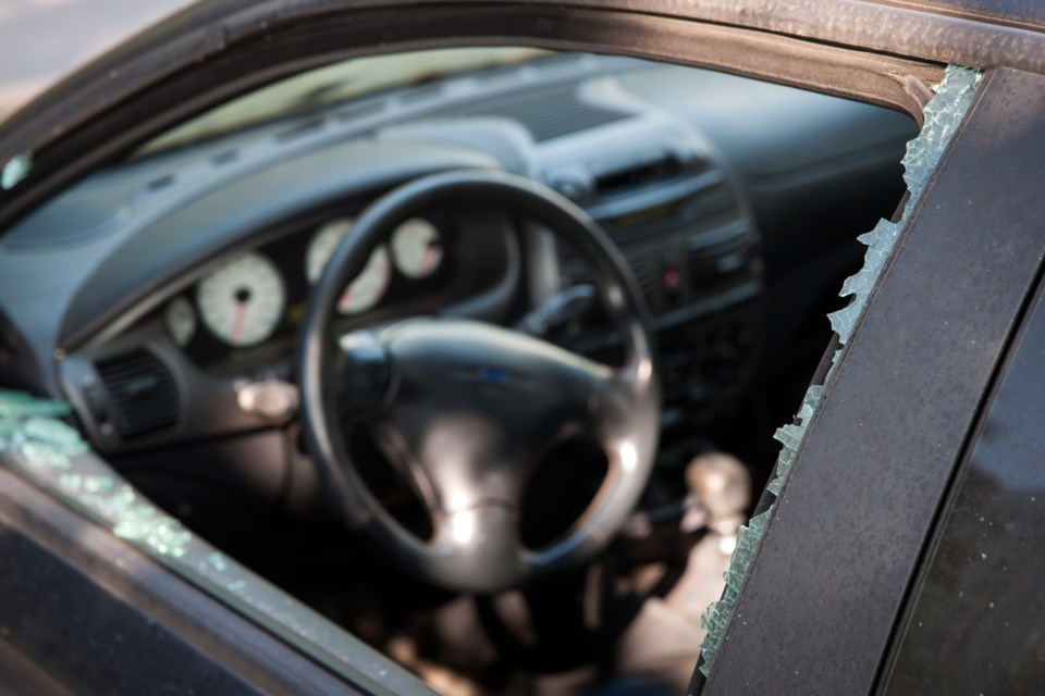 auto, break-in, car theft, stock photo
