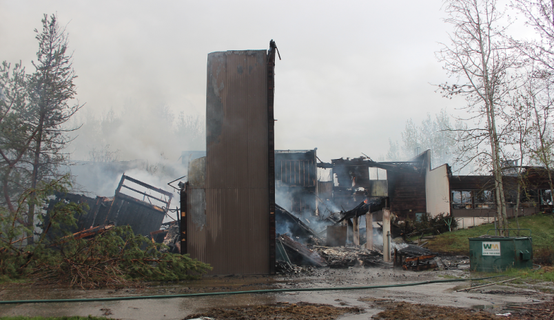 From May 16, 2019's massive fire at Peace Haven. Debris and remains ...still remain on site nearly a year later.