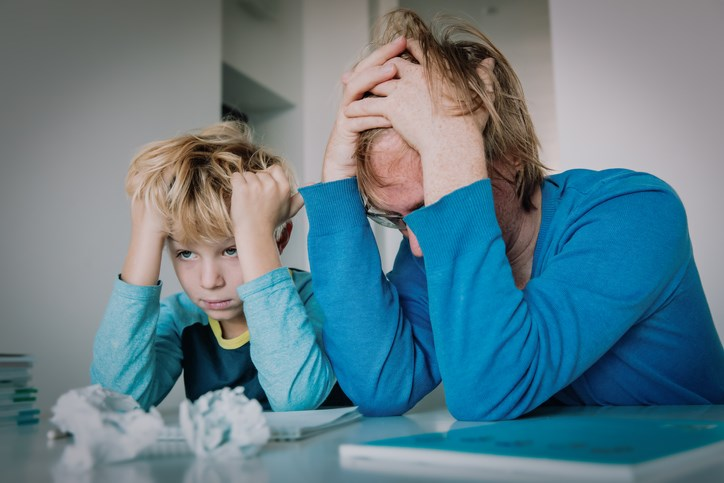Some parents struggling with home school