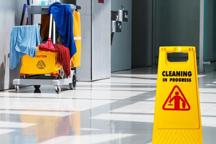 cleaning, custodians, stock photo