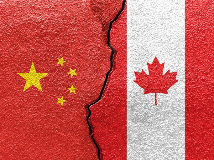 Only 14% of Canadians view China in a positive light, according to a new poll