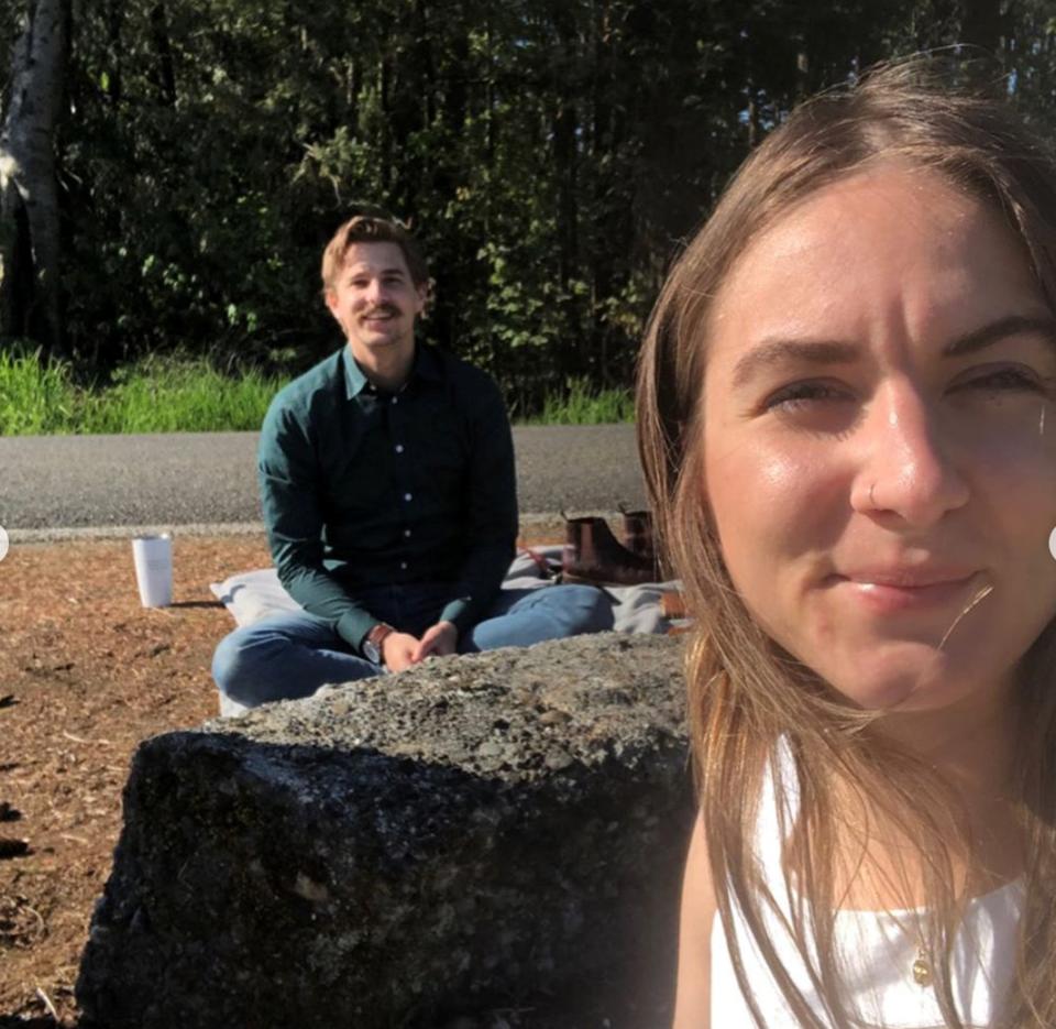 Washington state resident Ryan Hamilton and his fiancee Savannah Koop, who lives in Abbotsford, have