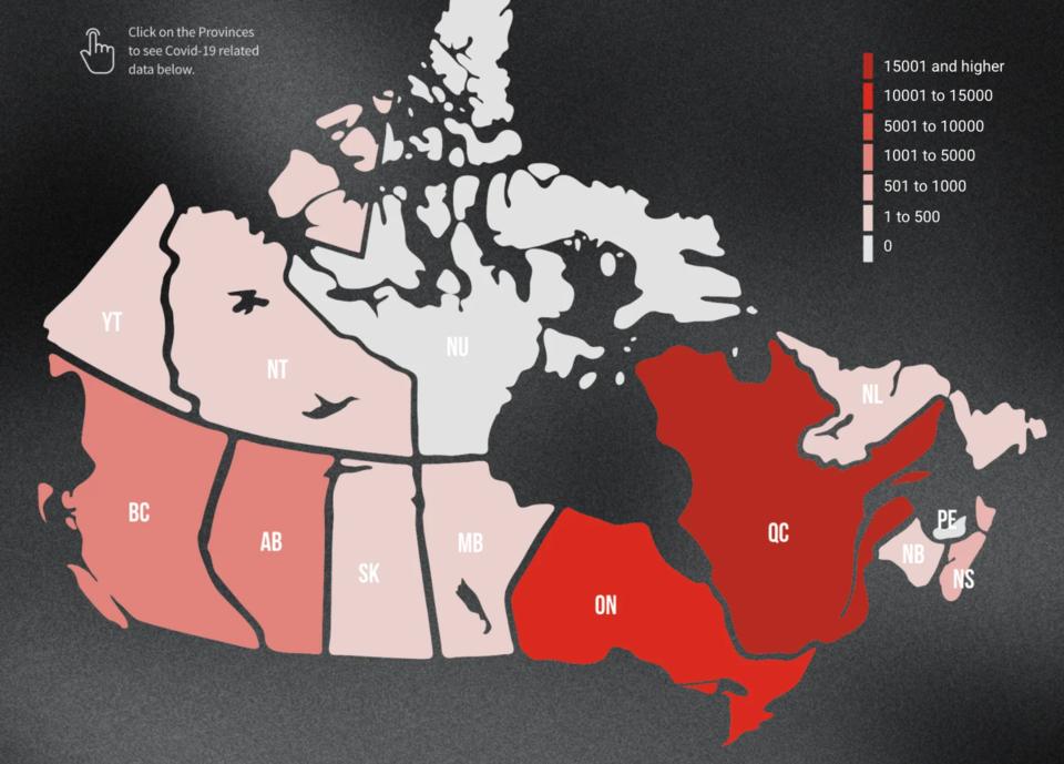 COVID Canada Map May 2020